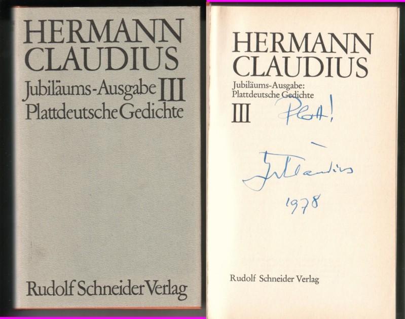 Jubiläums Ausgabe Plattdeutsche Gedichte