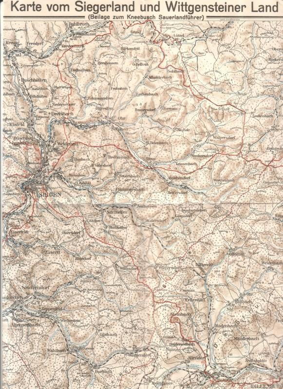 Sauerland Karte.Karte Vom Siegerland Und Wittgensteiner Land