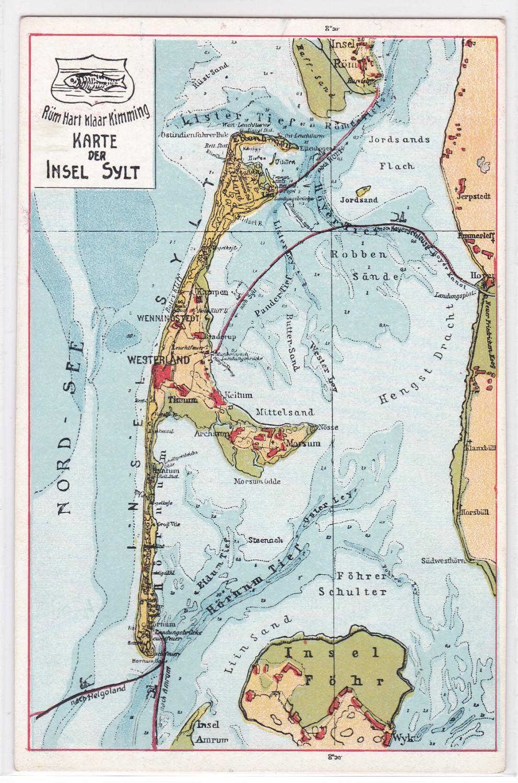 Karte Sylt Amrum.Sylt Karte Das Zvab