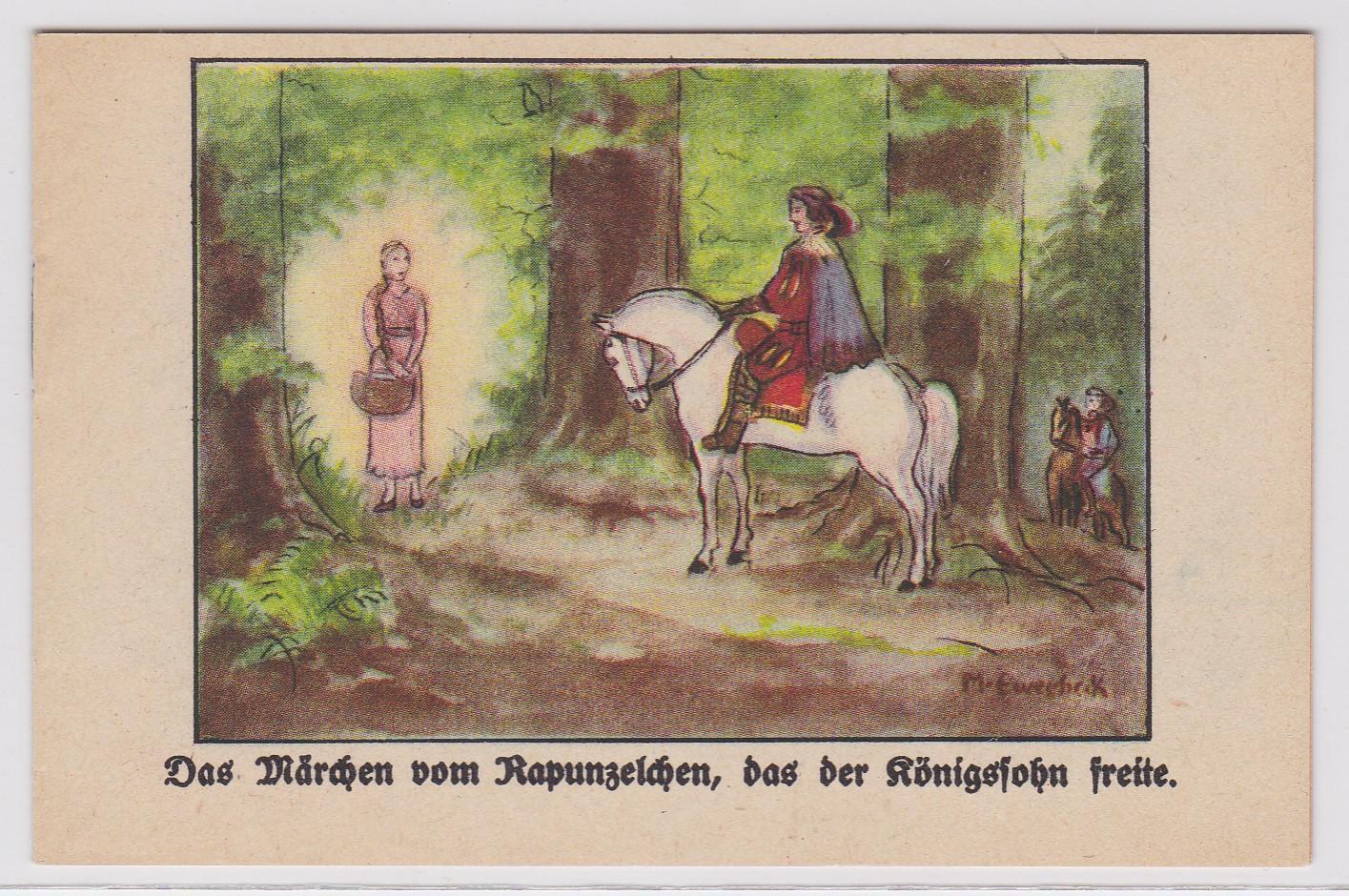 Hoffmann's Stärke mit der Katze - Das Märchen vom Rapunzelchen, das der Königssohn freite. (von Johanna Weiskirch). Ein Märchen gewidmet von Hoffmann's Stärkefabriken AG, Bad Salzuflen. Nr. 145