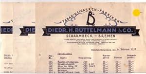 Konvolut 2x Schreiben + Preisliste Tabak- u.: Büttelmann & Co