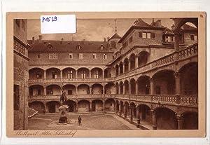 """AK Stuttgart Alter Schlosshof, """"gedruckt mit Farbe: ohne"""