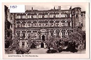 Ansichtskarte Postkarte Schloß Heidelberg. Der Otto-Heinrichs-Bau - Motiv s/w - postalisch ungelaufen