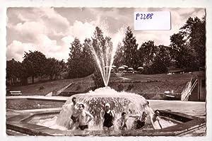 Ansichtskarte Postkarte Bad Rappenau Sprudel im Soleschwimmbad: ohne