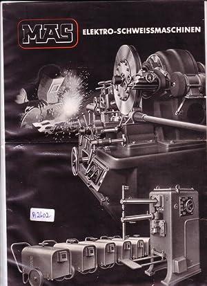 Einzelblatt - MAS Elektro-Schweissmaschinen - Maschinenfabrik August: Maschinenfabrik August Seuthe
