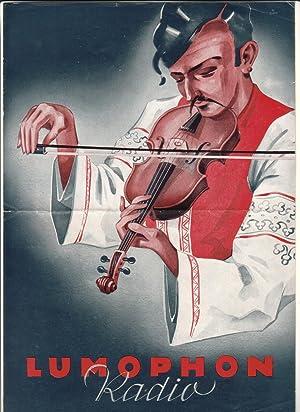 Werbeprospekt/Druckschrift - Lumophon Radio - Lumophon-Werke Bruckner: Lumophon Werke Nürnberg