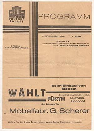Phoebus Palast (Nürnberg) - Programm Spielprogramm Faltprospekt: Phoebus Palast Nürnberg