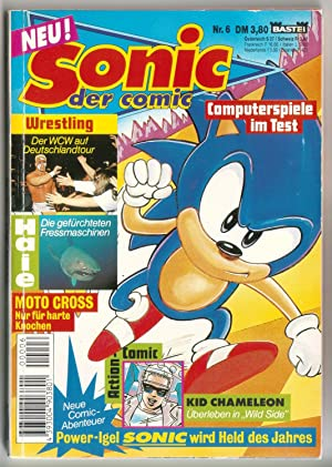 Sonic der Comic Nr. 6 - Computerspiele im Test, Wrestling, Haie, Moto Cross, Action-Comic Kid Cha...