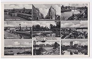AK Homberg Niederrhein Mehrbildkarte 1951 gelaufen