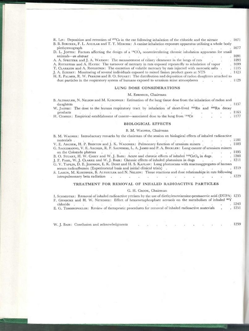 Inhaled Radioactive Particles And Gases  Proceedings Of