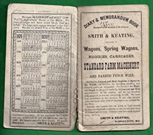 1879 Diary and Memorandum Book Presented to the Farmers of the West by Smith and Keating: Editors