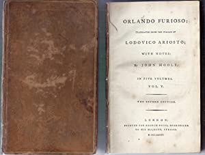 Orlando Furioso in Five Volumes. Volume V (5) Only. Second Edition: Ariosto, Lodovico (trans. from ...