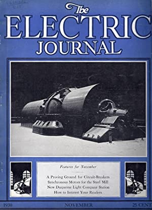 The Electric Journal, November 1930, Volume 27, No. 11: Riker, Chas R., (editor)