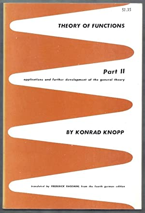 Theory of Functions Part II (Two). Applications: Knopp, Konrad (trans.