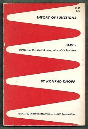 Theory of Functions Part I (1): Elements: Knopp, Konrad (trans.