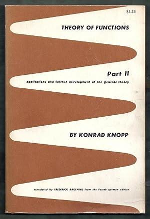 Theory of Functions Part II (2): Applications: Knopp, Konrad (trans.