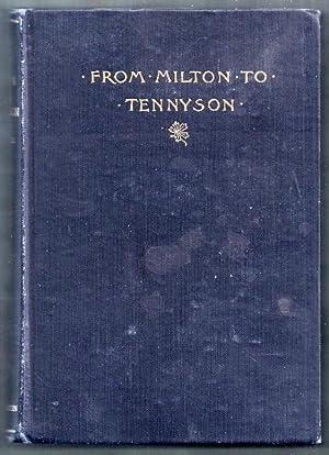 From Milton to Tennyson. Masterpieces of English: Syle, L. DuPont