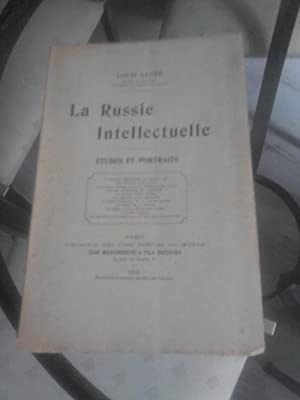LA RUSSIE INTELLECTUELLE, études et portraits.: louis leger