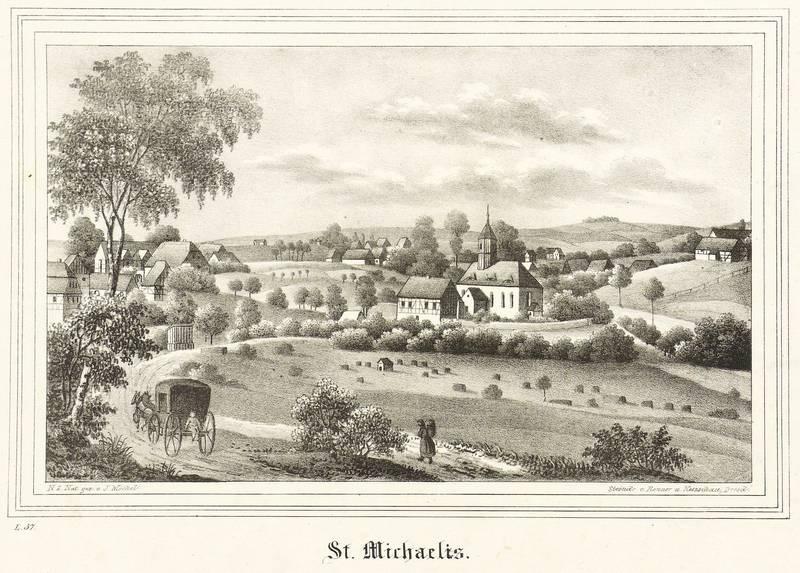 """St. Michaelis (Brand-Erbisdorf). - Gesamtansicht mit Kirche. - Kirchen-Galerie. - """"St. ..."""