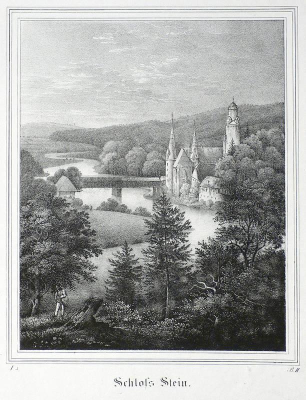 """Hartenstein. - Burg Stein. - Saxonia. - """"Schloss Stein""""."""