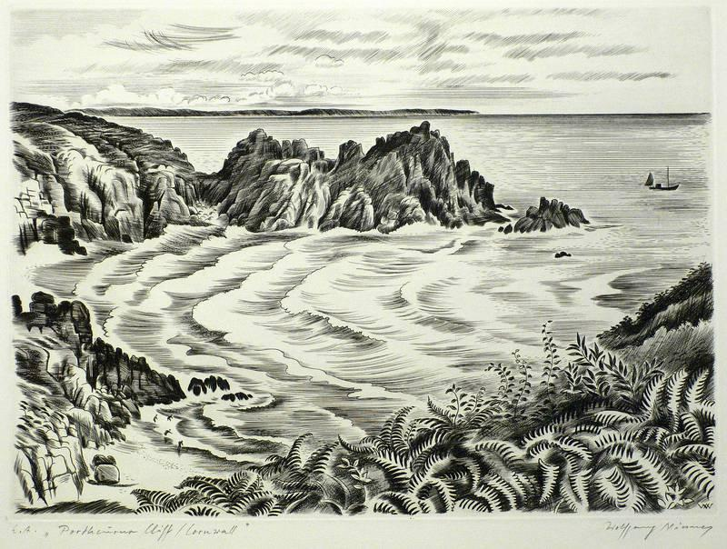 "Niesner, Wolfgang. - ""Portheusus Cliff / Cornwall""."