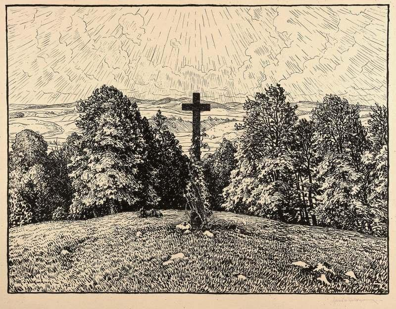 """Volkmann, Hans Richard von. - """"Bergkreuz""""."""