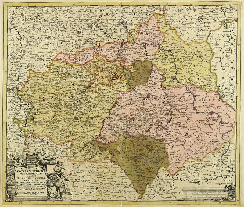 """Sachsen & Thüringen. - Obersächsischer Reichskreis. - Frederik de Wit. - """"..."""