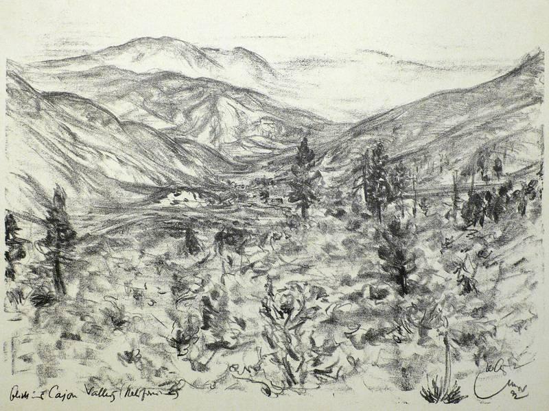 "Stumpp, Emil. - ""Blick ins Cajon Valley (Kalifornien)""."