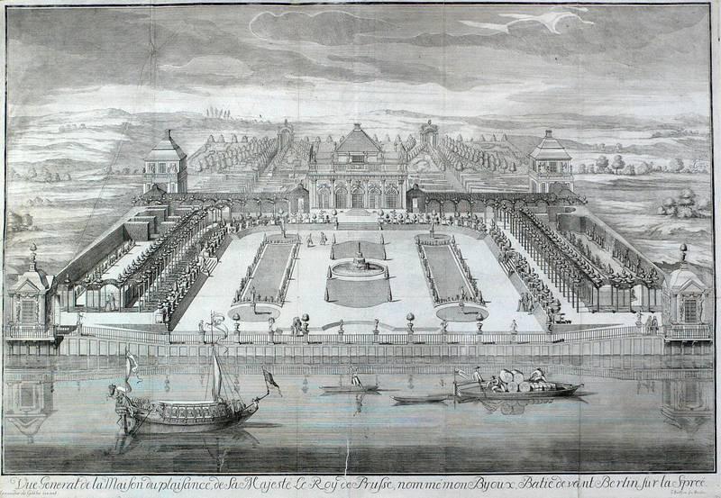 """Berlin. - Schloss Monbijou. - Eosander de Göthe. - """"Vue General de la Maison du plaisance..."""
