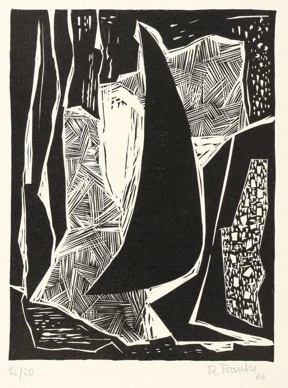 Franke, Rudolf. - Abstrakte Komposition.