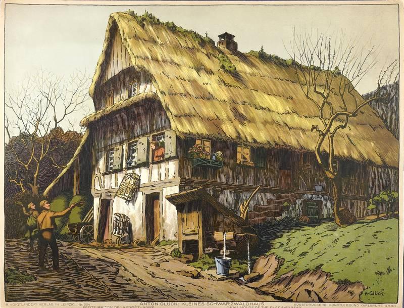 """Glück, Anton. - """"Kleines Schwarzwaldhaus""""."""