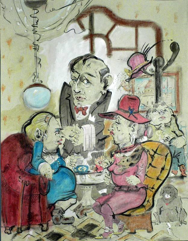 Bergner, Ralf. - Zwei Damen im Café.