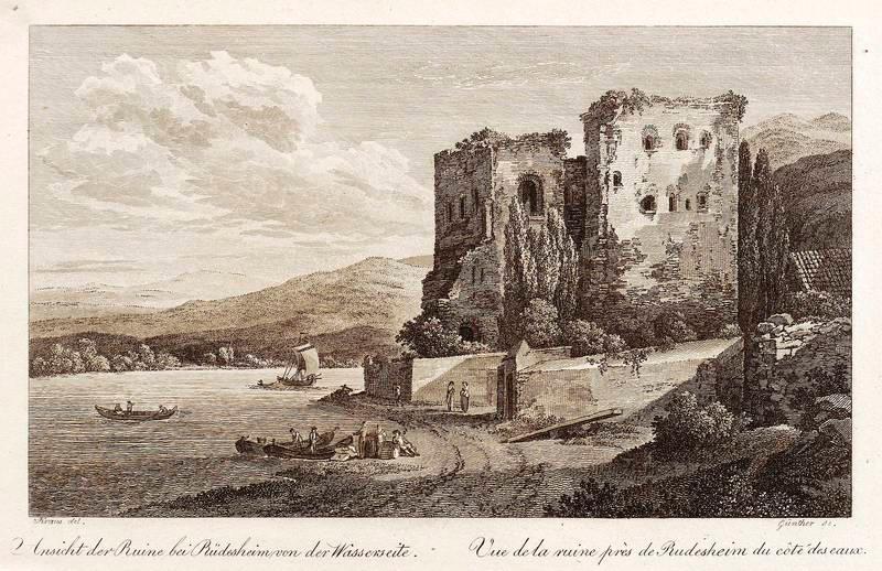 Orig Michael Stahlstich 1860 Ehrlich Pforzheim Schloss- Und Stiftskirche St