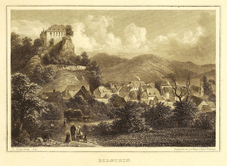 Bilstein (Lennestadt). - Gesamtansicht mit Burg Bilstein.: Ferdinand Freiligrath