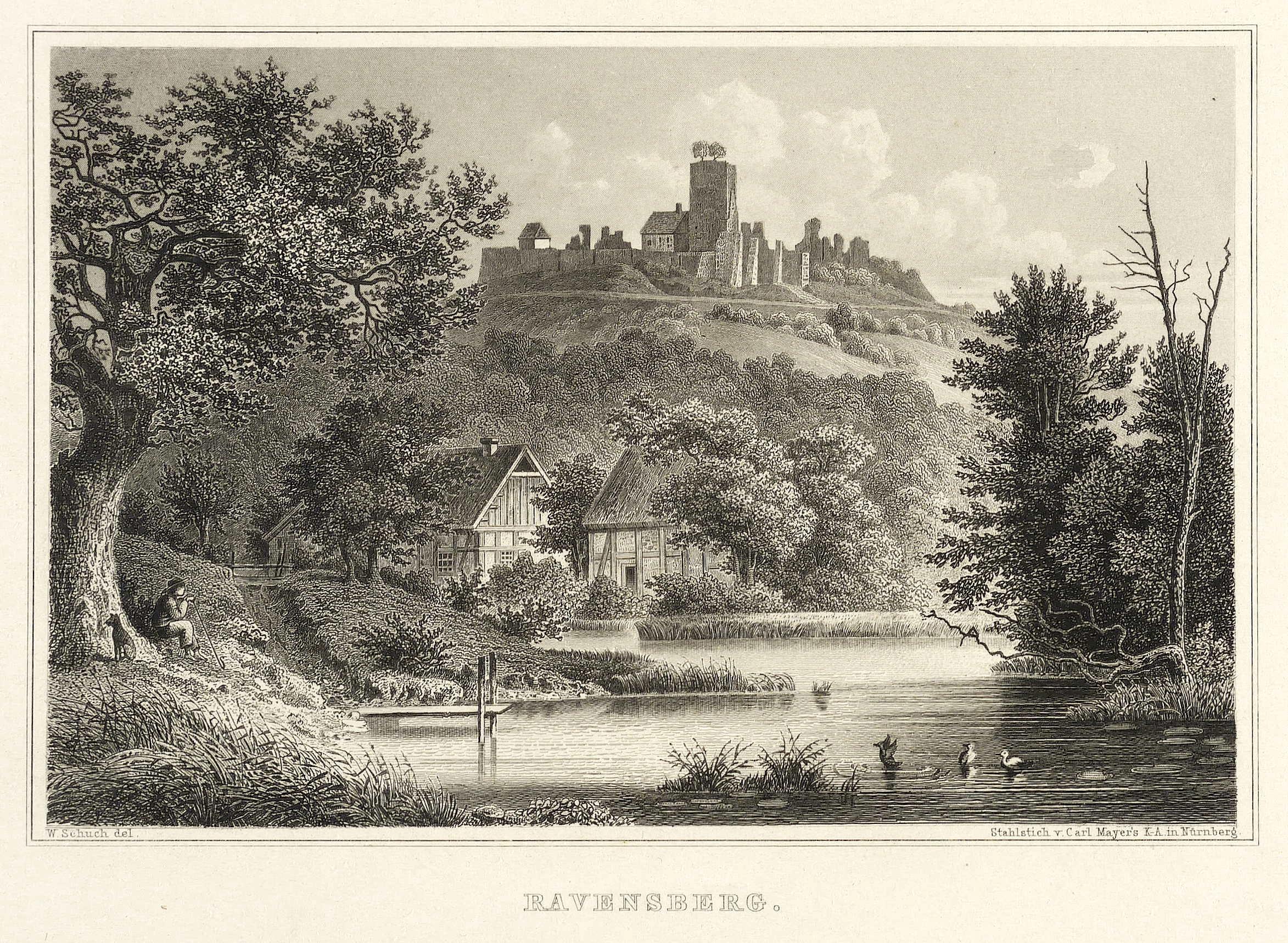 Borgholzhausen. - Burg Ravensberg. - Freiligrath. -: Ferdinand Freiligrath