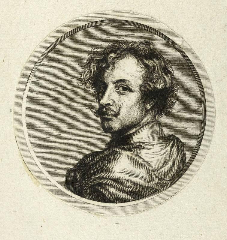Dyck, Anthonis van. - Bildnis. - Sandrart.: Joachim von Sandrart