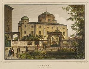 """Dresden. - Synagoge. - Rohbock & Koehler. - """"Dresden. Die Neue Synagoge"""".: Ludwig ..."""