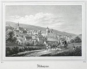 """Zschopau. - Gesamtansicht. - Saxonia. - """"Zschopau""""."""