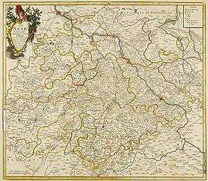 """Sachsen. - Le Rouge. - """"La Saxe contenant les Routtes et les Postes"""".: Georges-Louis Le ..."""