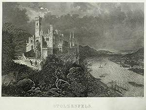 """Koblenz. - Schloss Stolzenfels. - Foltz. - """"Stolzenfels"""".: Friedrich von Foltz"""