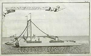 """Mannheim. - Schiffsbrücke. - Schramm. - """"Die weitberühmte Fliegende Schiffbrü..."""