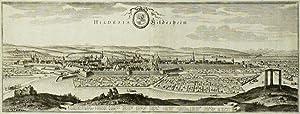 "Hildesheim. - Panorama. - Merian. - ""Hildesia Hildesheim"".: Matth�us Merian d. �."