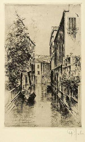 Halm, Peter. - Kleiner Kanal in Venedig.