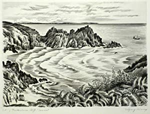 "Niesner, Wolfgang. - ""Portheusus Cliff / Cornwall""."