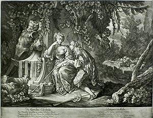 """Ridinger, Johann Elias. - """"Die thörichte Eifersucht / Zelotypia stolida""""."""