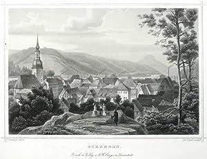 """Schandau / Bad Schandau. - Gesamtansicht. - Poppel. - """"Schandau"""".: Ludwig Rohbock & ..."""