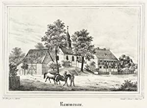 "Rammenau. - Dorfkirche und Pfarrhaus. - Kirchen-Galerie. - ""Rammenau""."