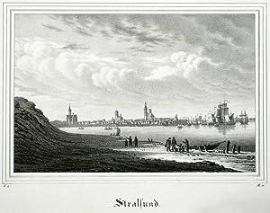"""Stralsund. - Gesamtansicht. - Borussia. - """"Stralsund""""."""