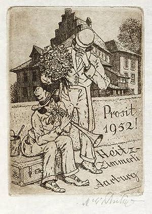 Philipp, Martin Erich. - MEPH. - Musikanten mit Blumenstrauß.