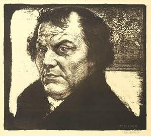 "Luther, Martin. - Bildnis. - Karl Bauer. - ""Luther II""."